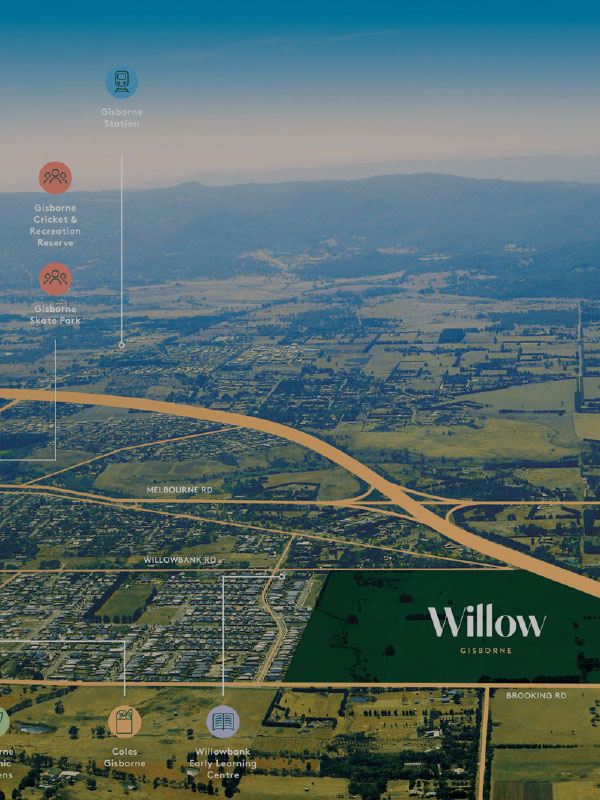 Willow aerial location map